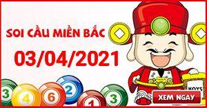 Soi cầu XSMB 03-04 - Dự đoán xổ số Miền Bắc ngày 03/04/2021
