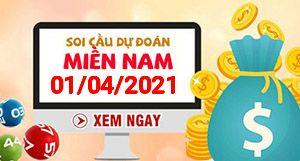 Soi cầu XSMN 01-04 - Dự đoán xổ số Miền Nam ngày 01/04/2021
