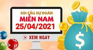 Soi cầu XSMN 25-04 - Dự đoán xổ số Miền Nam ngày 25/04/2021